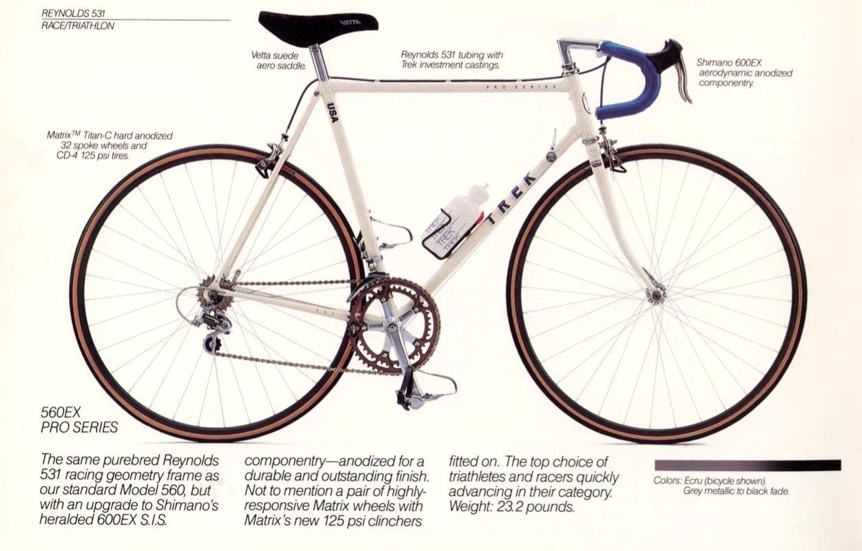 vintage trek bike specs
